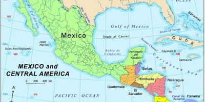 Mapa ng Mexico at central america
