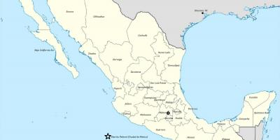 Estado ng Mexico map